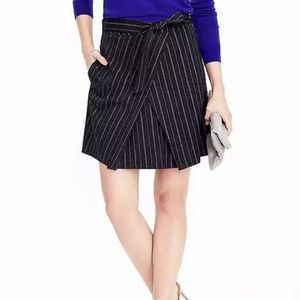 Banana Republic Navy Blue Front-Tie Skirt 10